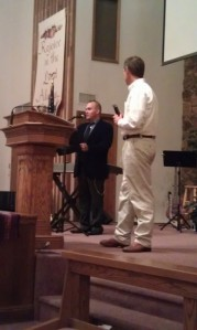 Alan translating for Todd at the Spanish Speaking Service in Camarillo, CA