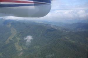 Flying over the interior of Papua New Guinea