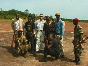 "Jungle Airstrip In West Africa with ""Friendlies"""