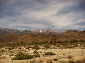 We became very familiar with the beautiful Sierras of California!