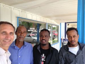 Todd with men from the Somalia Community Center.