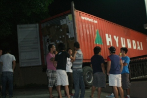 Container from Hands of Hope Arrives at Shaloam Birthing Center