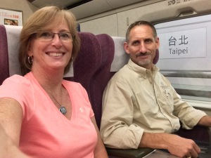 Aboard the High Speed Rail from Taipei to S. Taiwan.