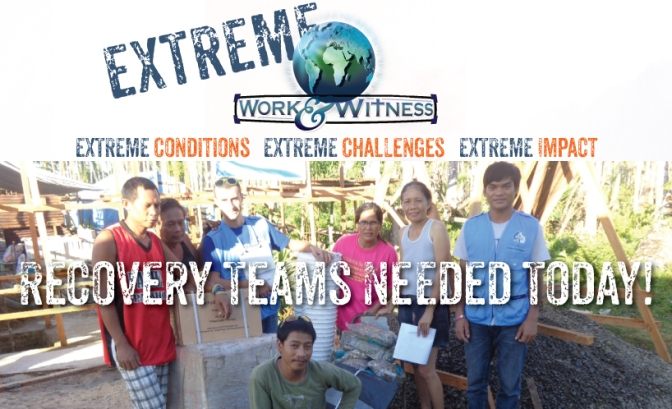 Extreme Work and Witness Teams Needed in Saipan.