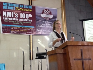 Connie speaking in Angeles City, Northern Philippines.