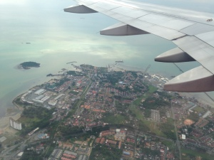 Flying over Southern Malaysia