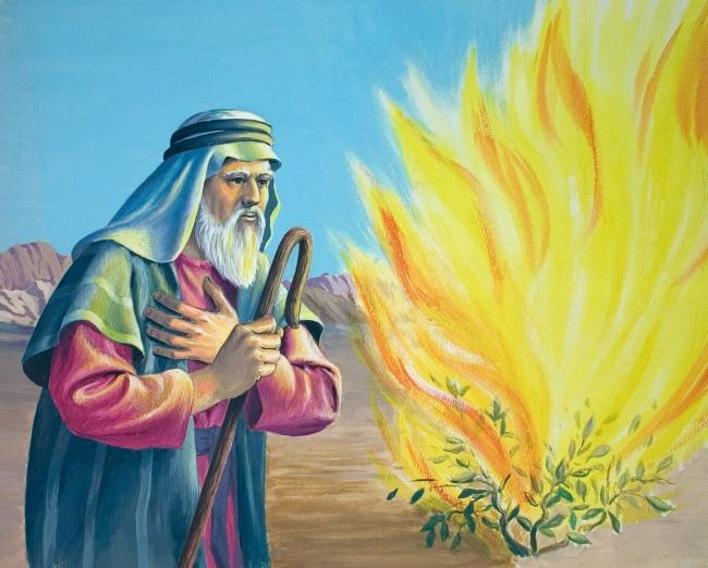 moses-with-staff-at-burning-bush