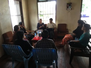 Connie traveling, sharing, speaking, teaching - Myanmar.