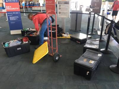 Baggage Embargo - means unloading and re-packing.
