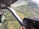 Banking over another remote airstrip.