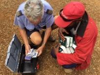 Pilot Remi Van Wermeskerken delivering Bibles at Ambuluwa.
